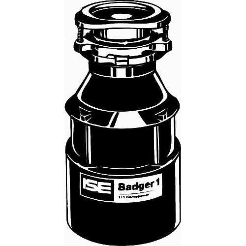 Badger 1 Garbage Disposal Without Power Cord, 1/3 Hp