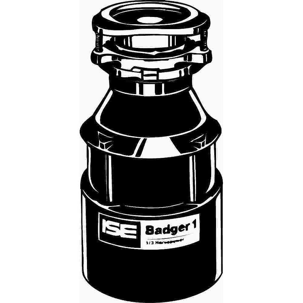Insinkerator Badger 1 Garbage Disposal Without Power Cord, 1/3 Hp