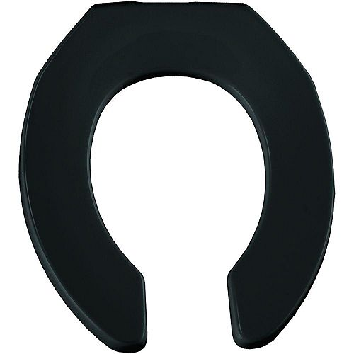 Bemis Round Open Front Toilet Seat in Black