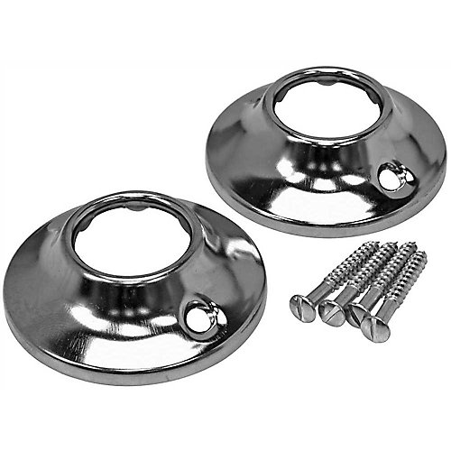 Shower Rod Flange, Chrome Plated With Screws