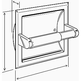 Toilet Paper Holder And Roller, Recessed