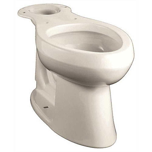 Highline Comfort Height Elongated Toilet Bowl With 12 inch Rough, White