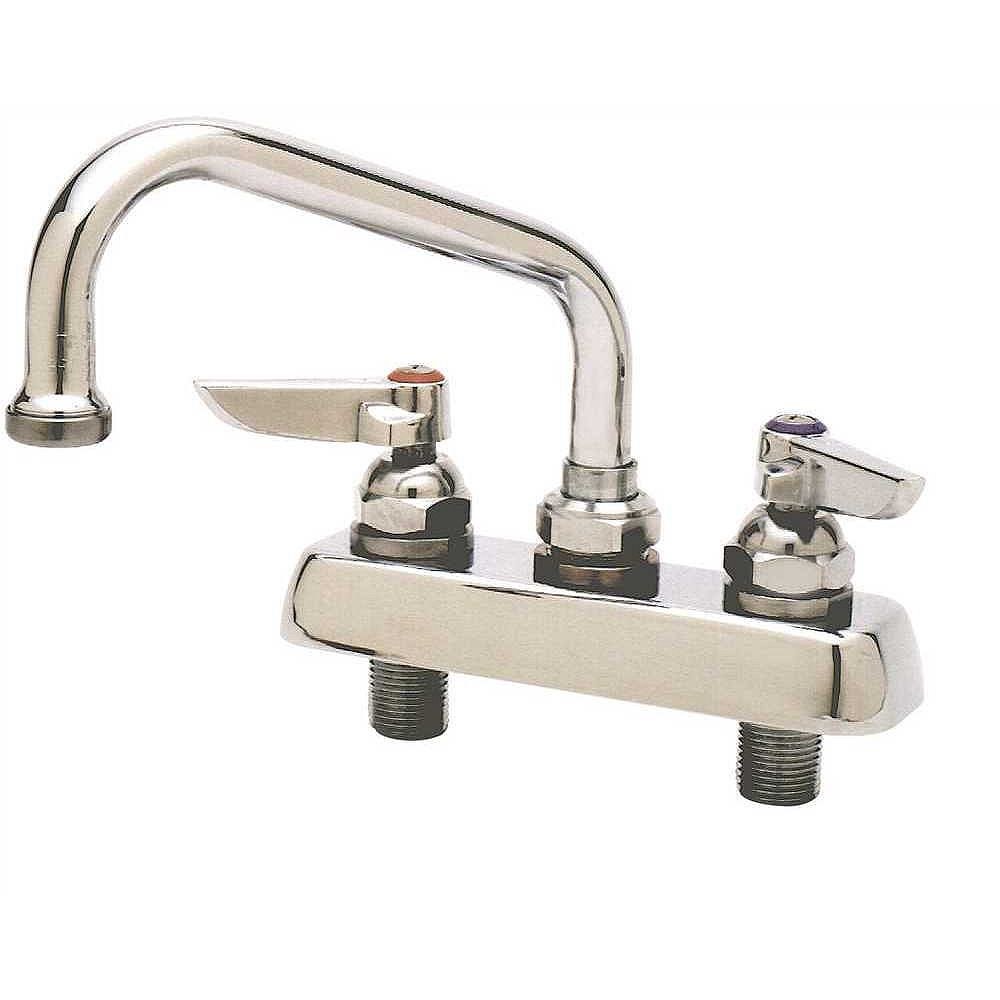 """T&S BRASS Deck Faucet With 6"""" Swing Spout"""
