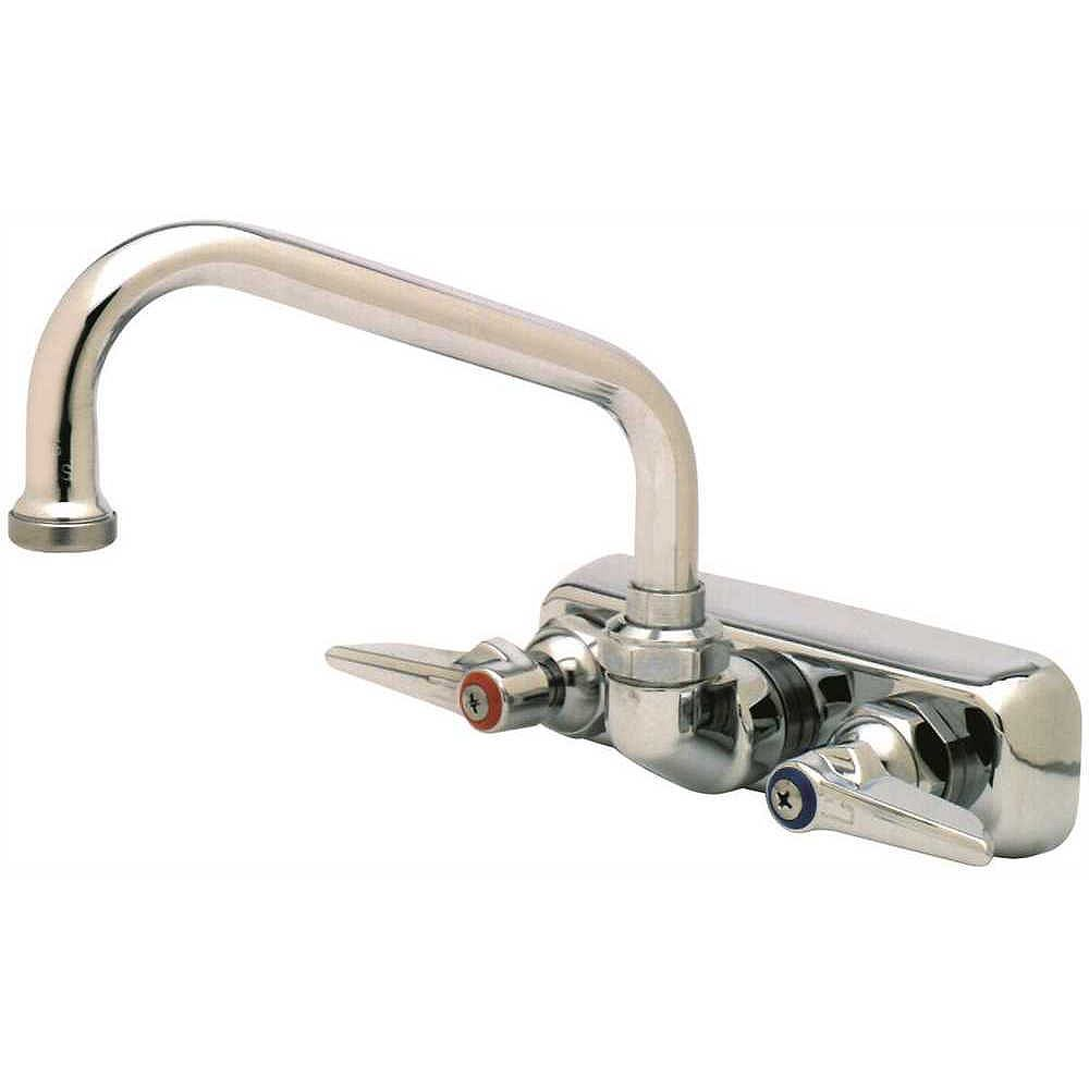 T&S BRASS Work Board Faucet With 6 inch Swing Spout, Chrome