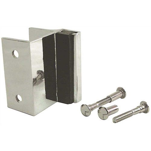 STRYBUC INDUSTRIES 1-1/4 in. Bumper Keeper for Outswing Door Laminate Pilaster with Screws
