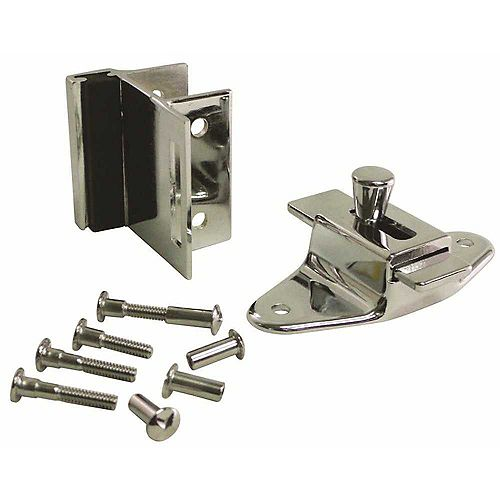 Slide Latch And Bumber Keeper Set For Laminate Door With Screws
