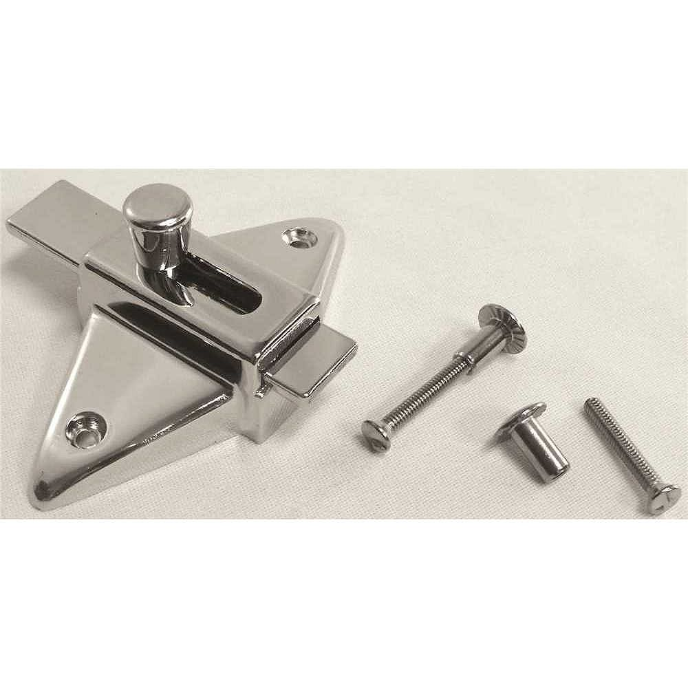 STRYBUC INDUSTRIES Slide Latch For Laminate Door With Screws, 2-3/4 inch