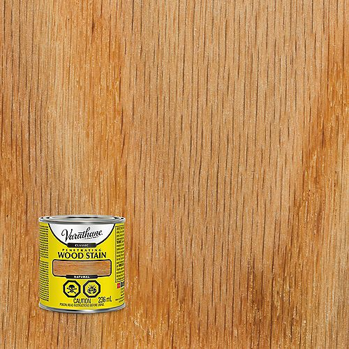 Penetrating Oil-Based Wood Stain in Natural, 236 mL