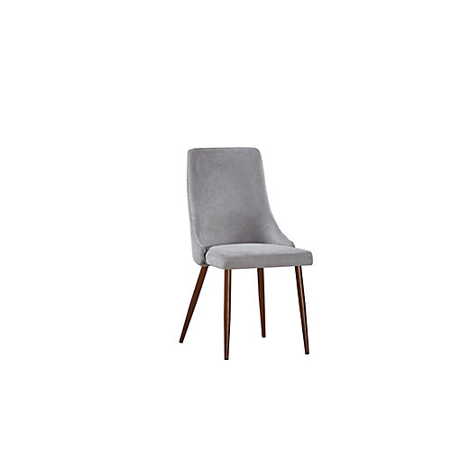 Brooke Side Dining Chair in Grey (Set of 2)