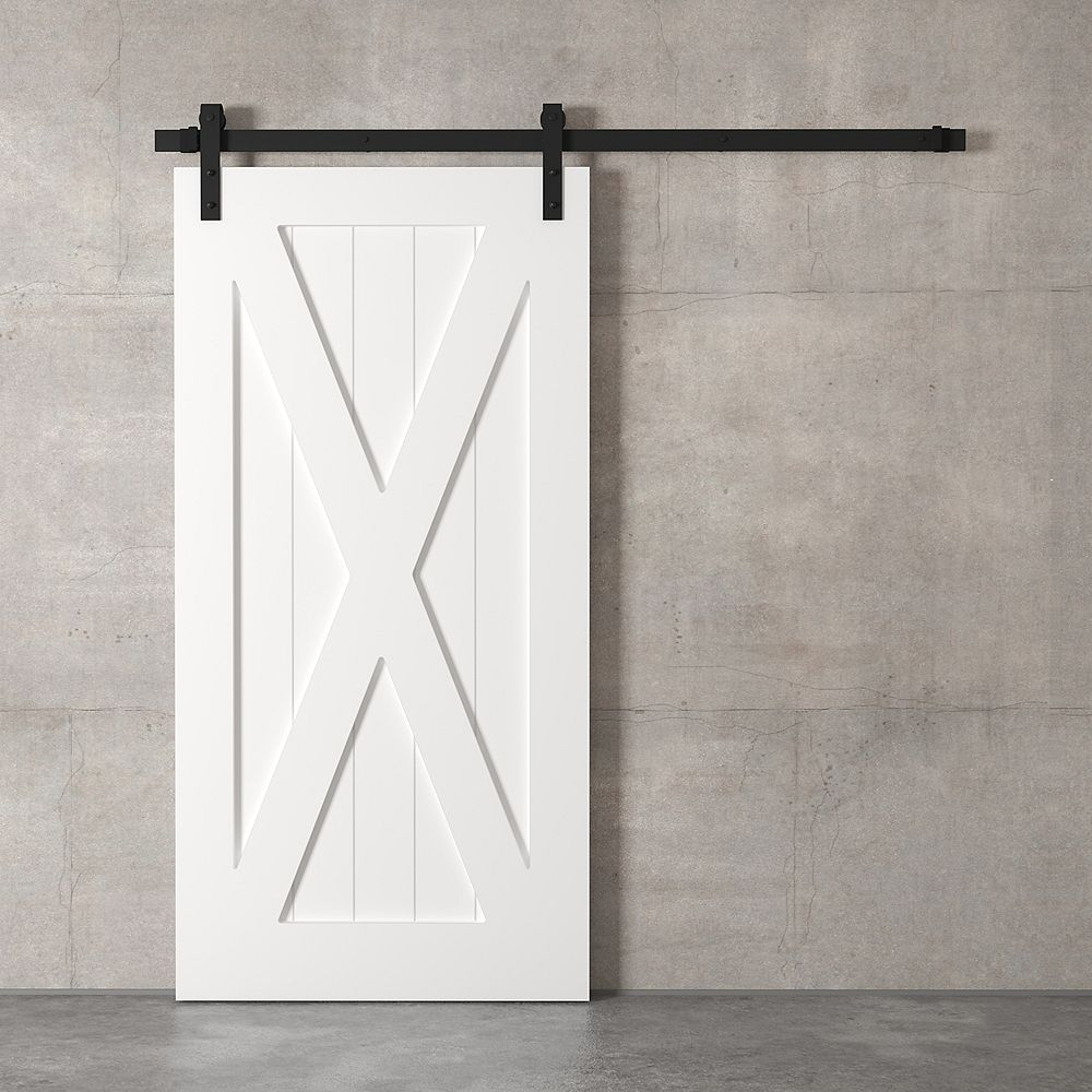 URBAN WOODCRAFT The X Barn Door By  (White)