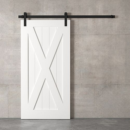 Le X Barn Door By (blanc)
