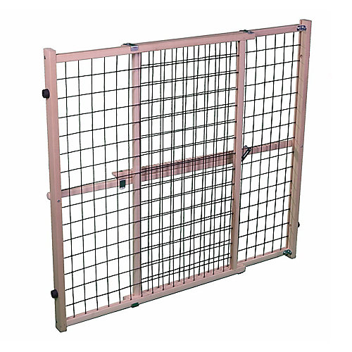 Extra-Wide Wire Mesh Petgate -Natural/Brown Mesh