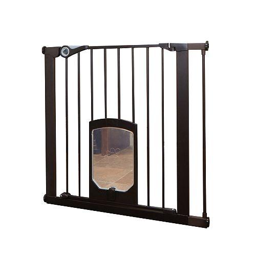 Barrière pour animaux Passage avec chatière - Bronze mat