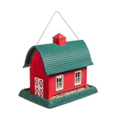 Large Barn Birdfeeder - Red (Plastic)