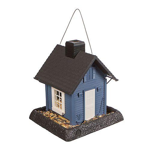 Cottage Birdfeeder - Blue (Plastic)