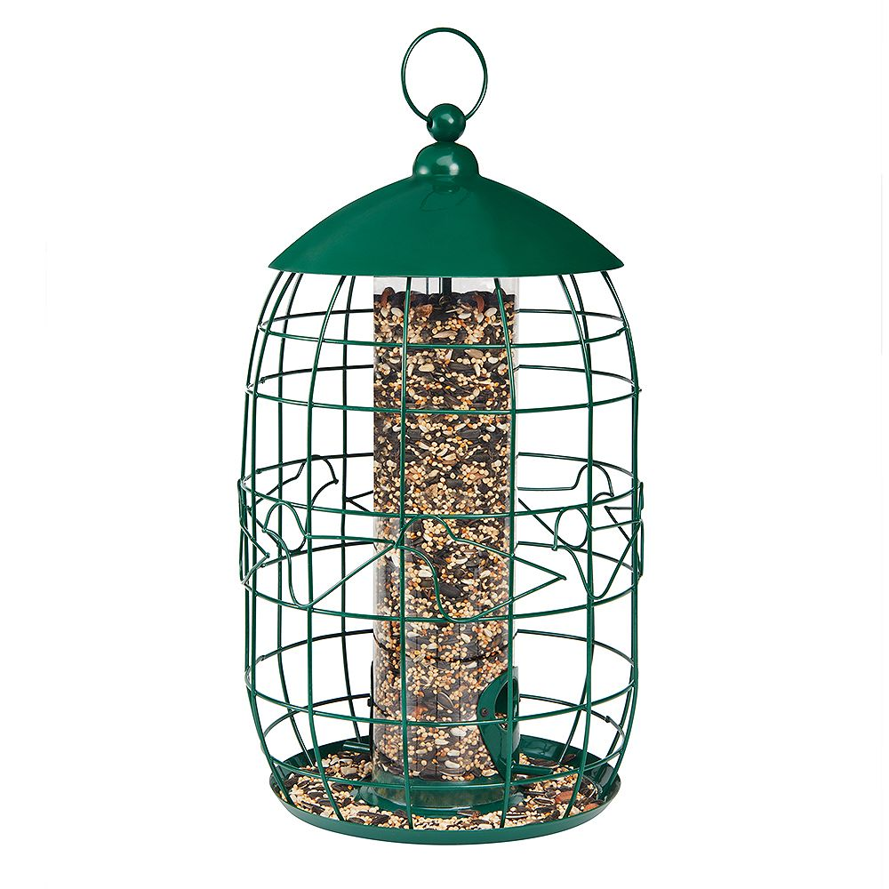 North States Squirrel-Free Tube Birdfeeder - Green (Metal)