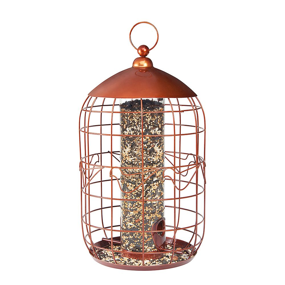 North States Squirrel-Free Tube Birdfeeder - Copper (Metal)