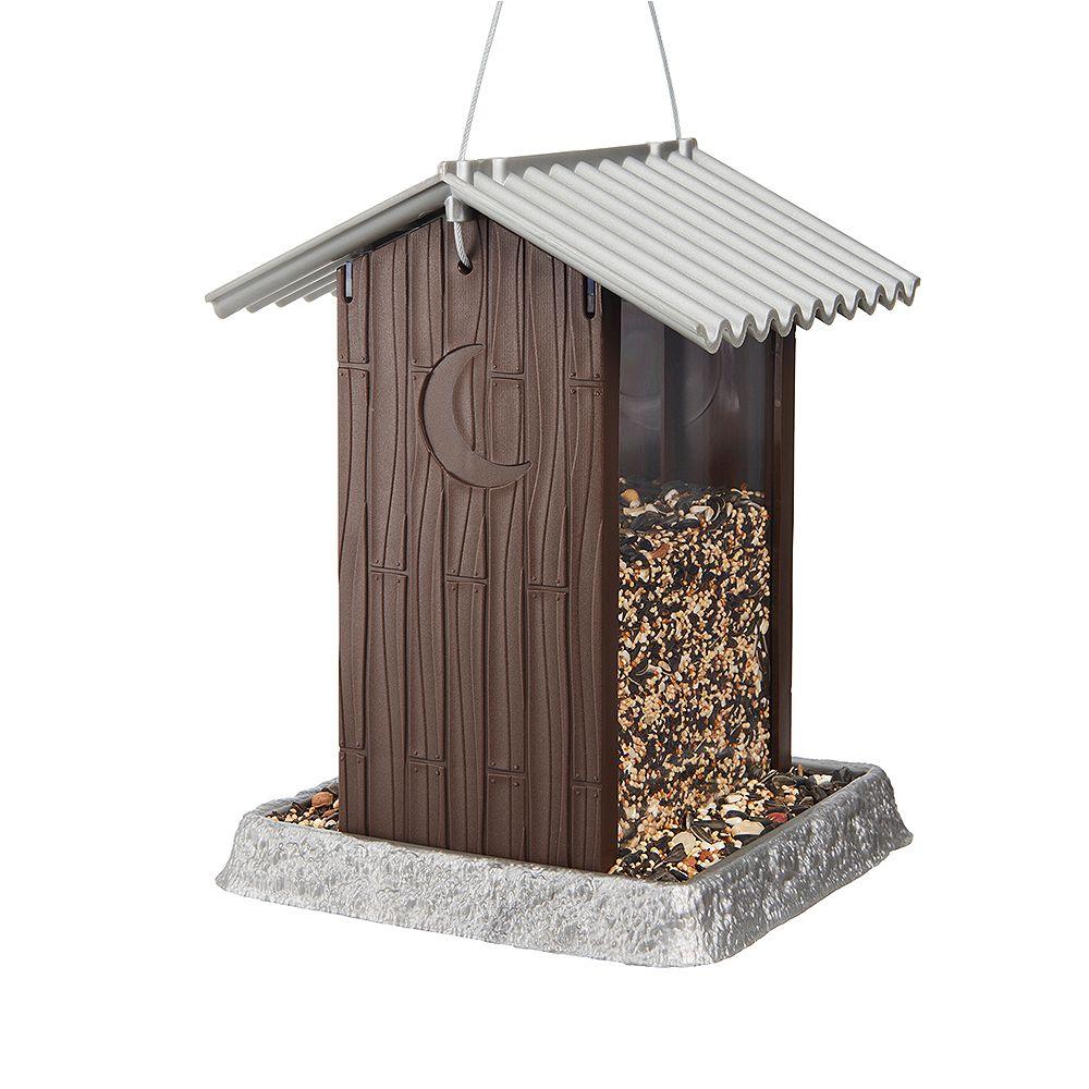 North States Outhouse Birdfeeder - Bronze/Brown (Plastic)