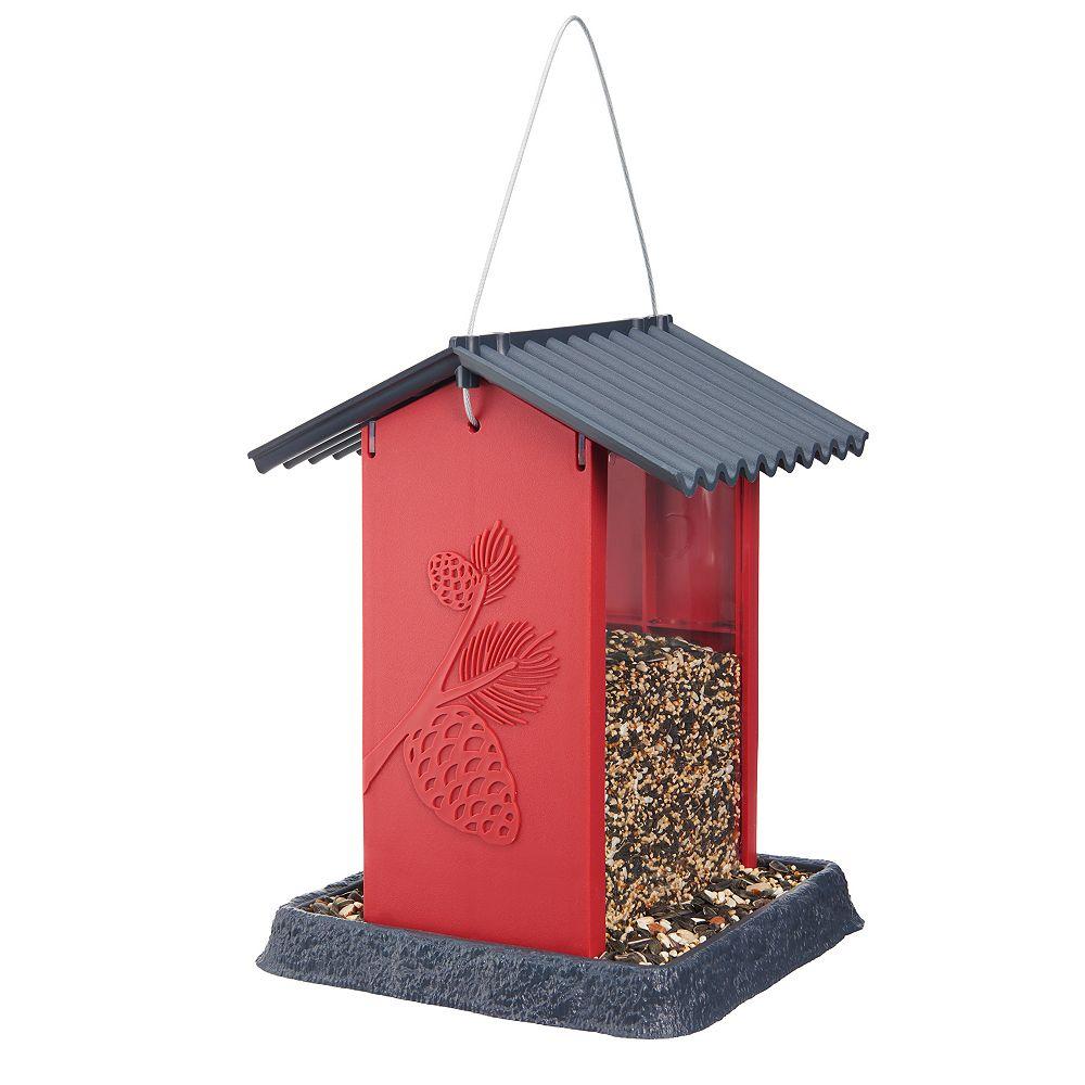North States Pinecone Birdfeeder - Red (Plastic)