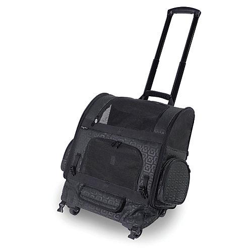 Sac de transport à roulettes pour animal domestique RC1000 Roller-Carrier - Noir