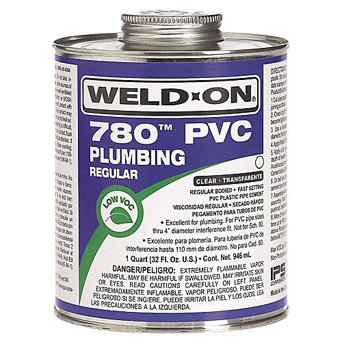 Weld On  780 Regular-Bodied Pvc Cement, Clear, Pint