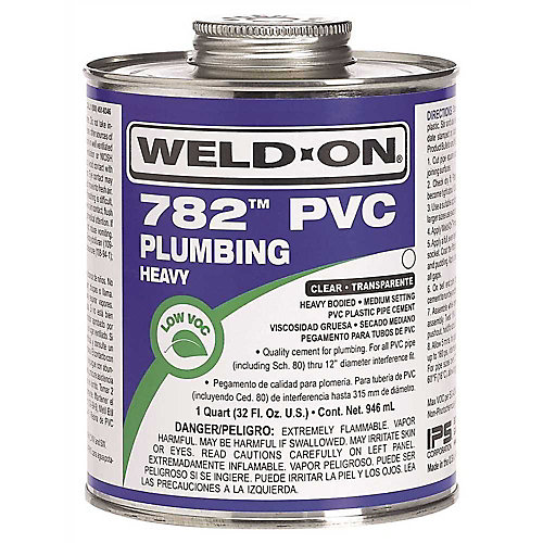 Weld On  782 Heavy-Bodied Pvc Cement, Clear, Quart