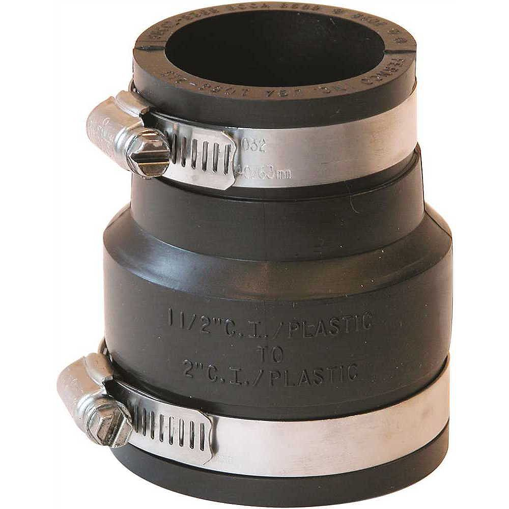 Fernco Flexible Coupling 2 inch X 1-1/2 inch