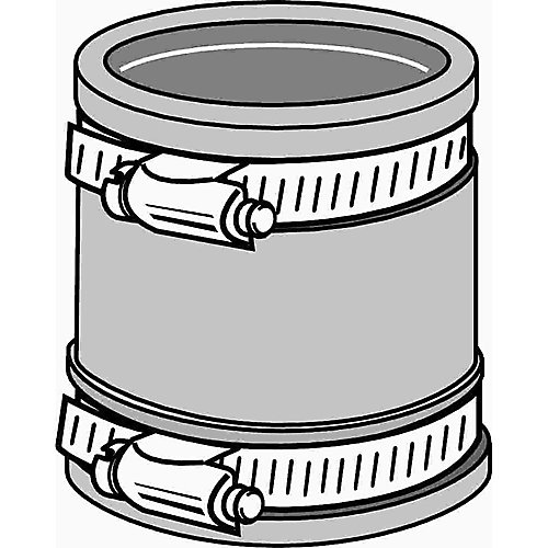 Flexible Rubber Coupling, 1-1/2 inch. Or 1-1/4 inch