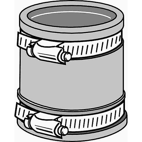 Fernco  Flexible Rubber Coupling, 1-1/2 In. Or 1-1/4 In.
