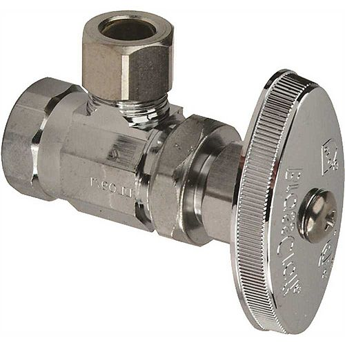 Angle Stop Stuffing Box 3/8 inch Fip X 3/8 inch Compression Lead Free