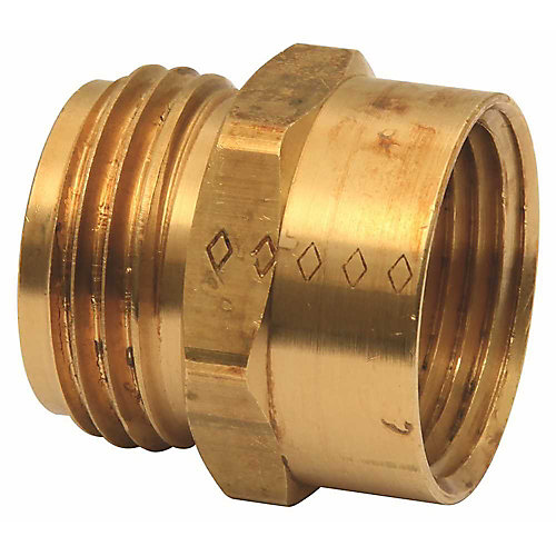 Brass Hose Fitting 3/4 inch Male X 3/4 inch Female