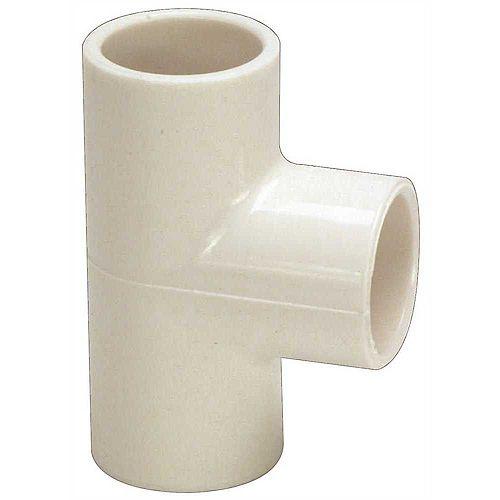 PVC SCH 40 SLIP TEE, 3/4 IN.