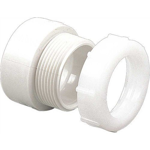 1-1/2 in. x 1-1/4 in. PVC DWV Hub x Slip-Joint Trap Adapter
