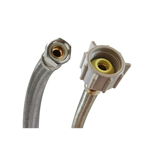 20 inch 7/8 inch Ballcock X 3/8 inch Compression Toilet Connector