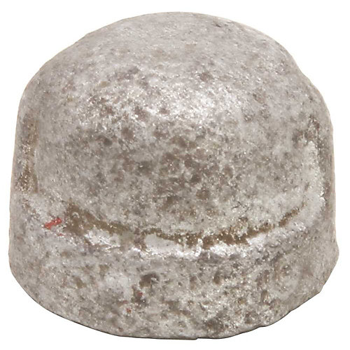 Galvanized Malleable Fitting Cap, 1/2 inch Lead Free