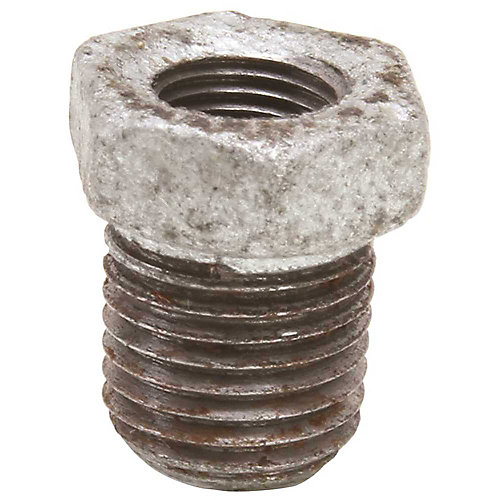 Galvanized Malleable Bushing, 2 inch X 1-1/4 inch