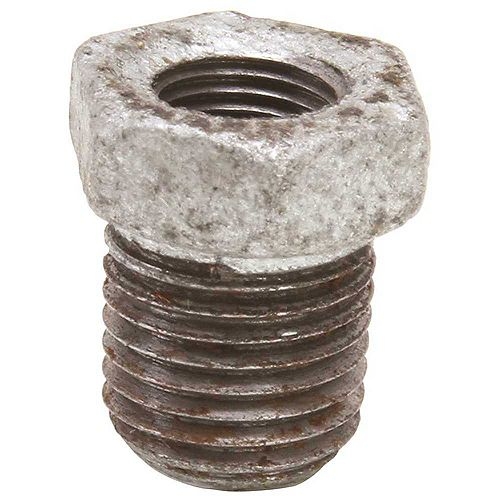Galvanized Malleable Fitting Bushing, 3/4 inch X 1/2 inch Lead Free