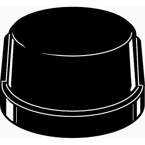 Black Malleable Cap, 1/2 inch