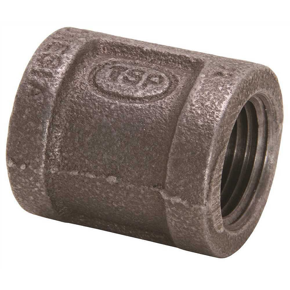 Proplus Black Malleable Coupling, 3/8 inch