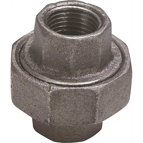 Proplus Black Malleable Union, 3/8 In.