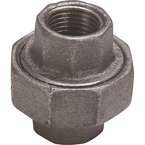 Proplus Black Malleable Union, 1/2 In.