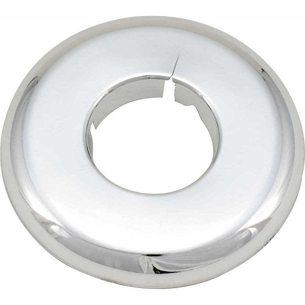 Proplus Split Escutcheon, 1/2 inch Ips, Chrome Plated Plastic