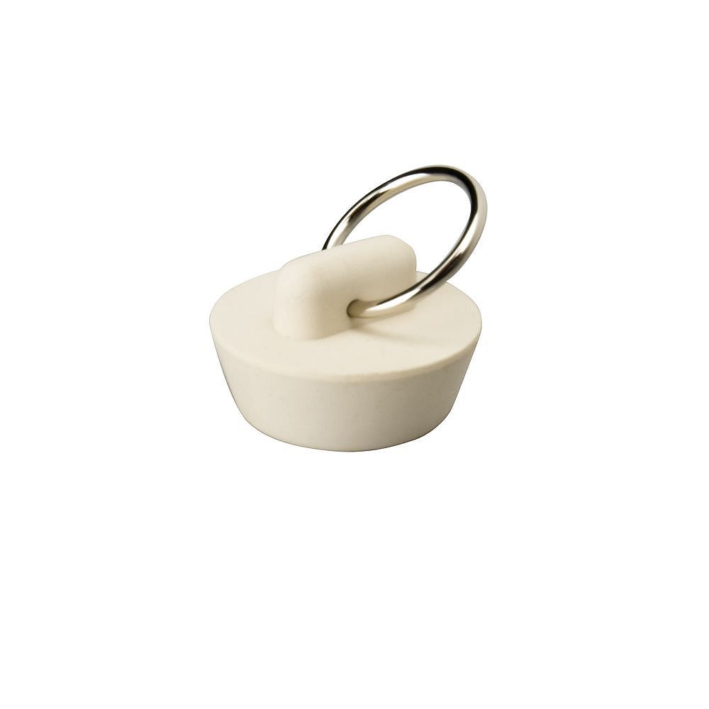 Proplus Sink and Bathtub Rubber Suction Stopper, 5 inch White