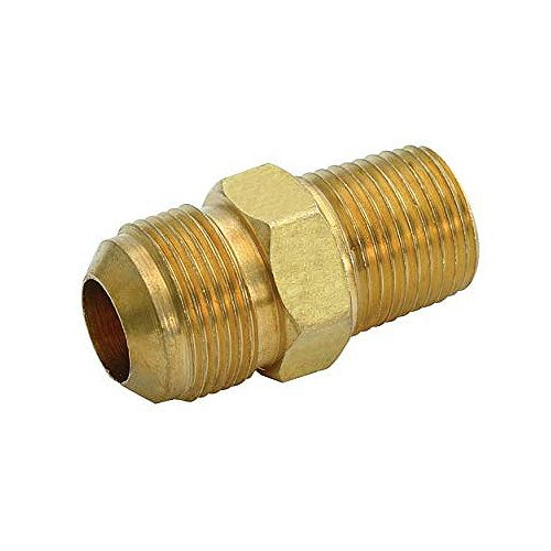Proplus Brass Male Connector, 3/8 In. Ips X 3/8 In. Od, Chrome, Lead Free