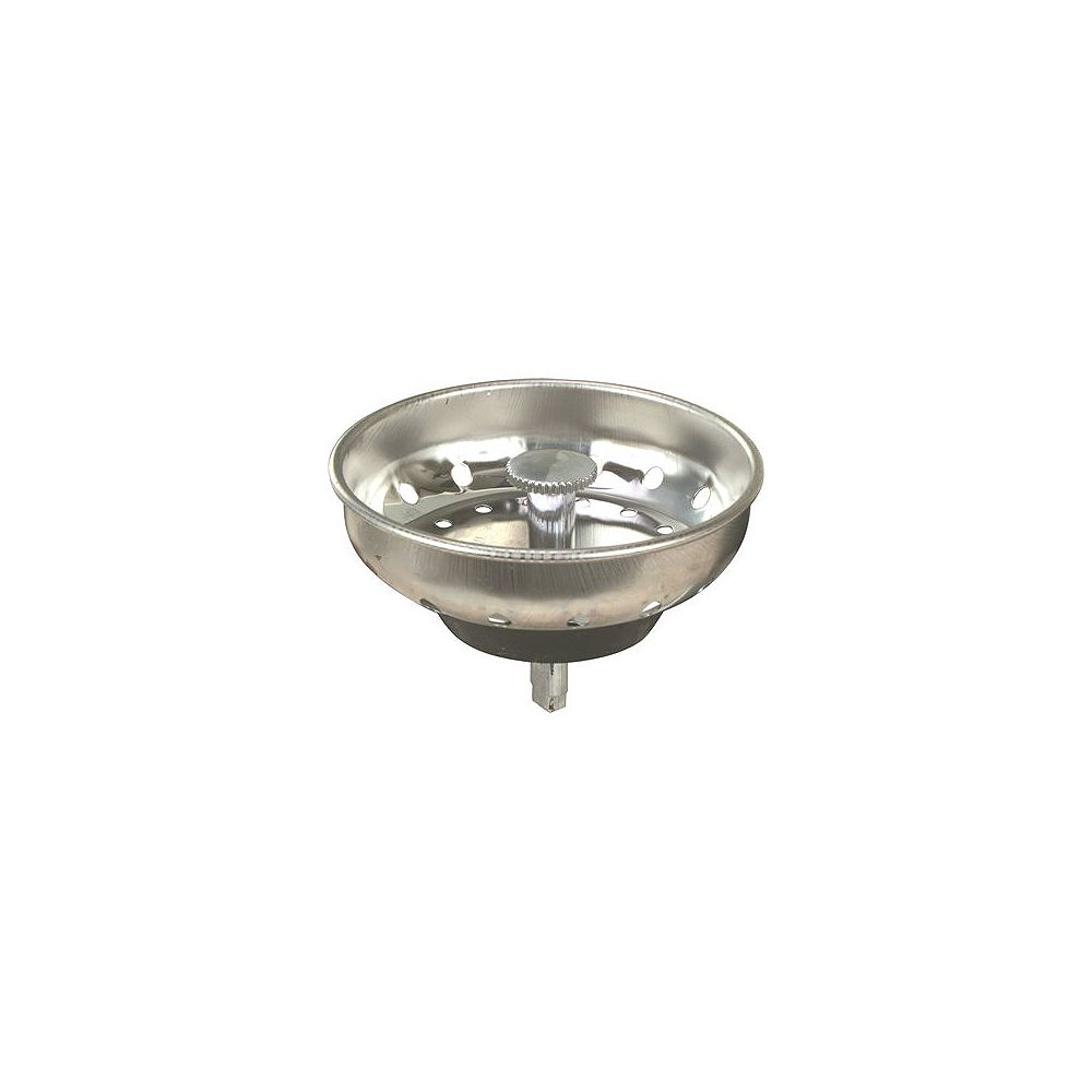 Proplus Sink Basket Strainer With Peg Post, Stainless Steel