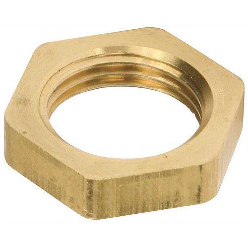 1/2 in. Dia IPS Faucet Locknut, Brass
