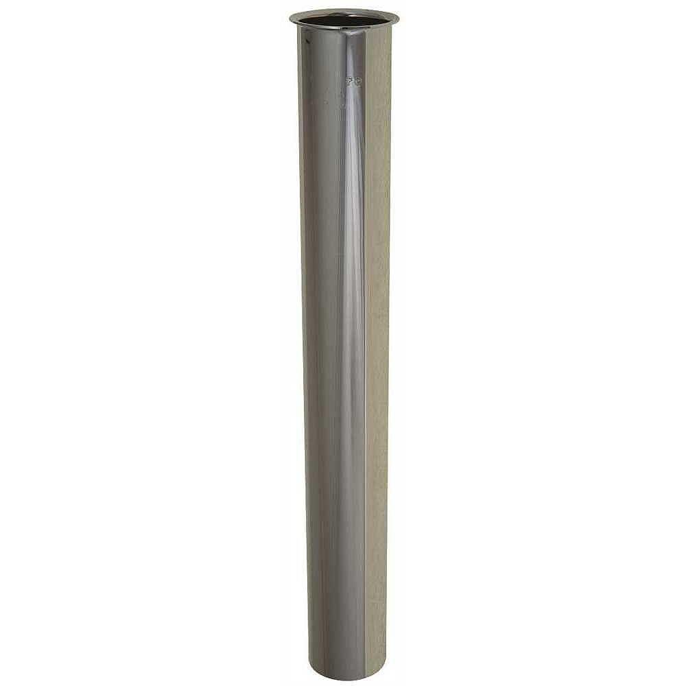 PREMIER Brass Straight Tailpiece, Chrome, 17 Gauge, 1-1/2 X 12 inch