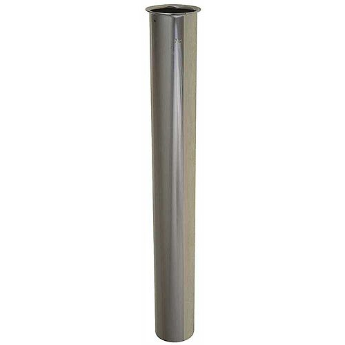Brass Straight Tailpiece, Chrome, 17 Gauge, 1-1/2 X 12 inch