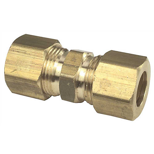 Brass Compression Union, 1/4 inch Lead Free