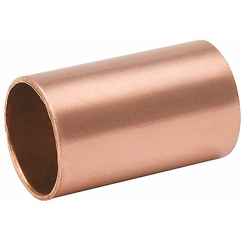 Copper Coupling Less Stop, 1/2 In.